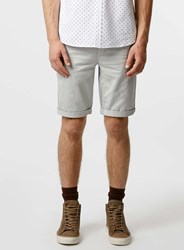 Topman Grey Longer Length Chino Shorts Mid Grey