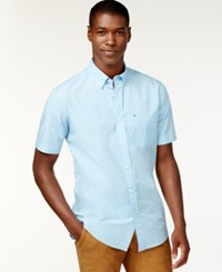 Tommy Hilfiger Maxwell Short Sleeve Button Down Shirt Blue Bell