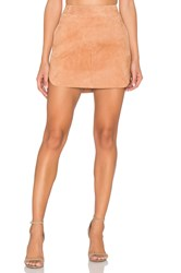 Karina Grimaldi Jacob Suede Skirt Tan