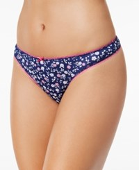 Charter Club Pretty Cotton Thong Only At Macy's Floral Patch