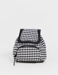 Pieces Houndstooth Backpack Black