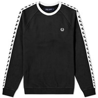 Fred Perry Taped Crew Sweat Black