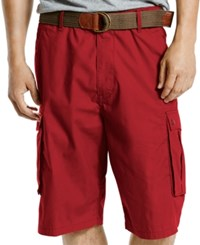 Levi's Men's Snap Relaxed Fit Rio Red Cargo Shorts
