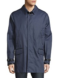Brioni Cotton Silk Long Sleeve Jacket Blue