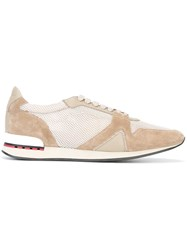 Burberry Panelled Sneakers Brown