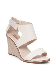 Louise Et Cie Rocco Leather Espadrille Wedge Sandals White