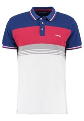 Wrangler Retro Slim Fit Polo Shirt Limoges Blue White