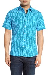 Men's Toscano Regular Fit Zigzag Print Sport Shirt