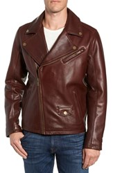 Ugg Leather Moto Jacket Dark Chestnut