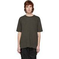The Viridi Anne Khaki Cotton And Cashmere T Shirt