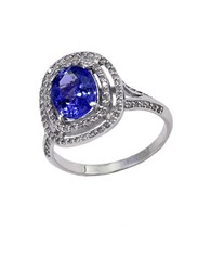 Effy 14Kt. White Gold Tanzanite And Diamond Ring