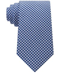 Sean John Men's Houndstooth Solid Tie Cobalt