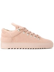 Filling Pieces Elongated Tongue Sneakers Women Leather Rubber 40 Nude Neutrals