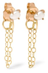 Melissa Joy Manning 14 Karat Gold Pearl Earrings