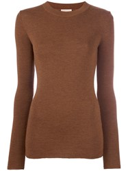 Laneus Round Neck Jumper Brown