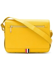 Thom Browne Pebbled Leather Reporter Bag Yellow