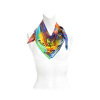 Christian Lacroix Barock And Roll Silk Scarf 70X70
