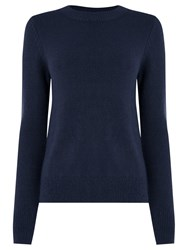 Oasis The Perfect Crew Neck Jumper Navy