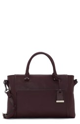 Vince Camuto Lina Leather Satchel Purple Vamp