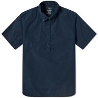 Save Khaki Short Sleeve Popover Shirt Blue