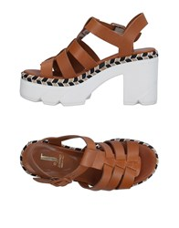 Jeannot Sandals Brown