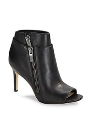 Via Spiga Open Toe Ankle Boots Black