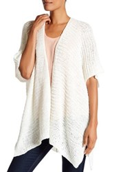 Cejon Woven Wearable Cardigan Like Shawl Beige