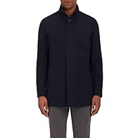 Barneys New York Hooded Jacket Navy