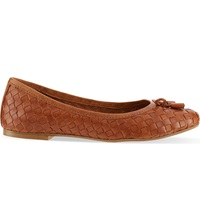 Carvela Luggage Woven Ballet Flats Tan