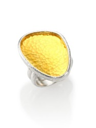 Gurhan Elements 24K Yellow Gold And Sterling Silver Amorphous Statement Ring Silver Gold
