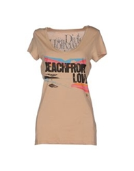 Dirtee Hollywood Short Sleeve T Shirts Sand