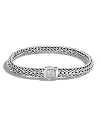 John Hardy Classic Chain Sterling Silver Bracelet With Hammered Clasp