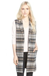 Women's Hinge Plaid Button Front Vest