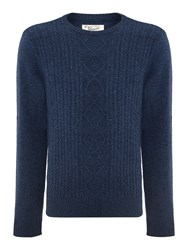 Original Penguin Dour Aran Cable Sweater Navy