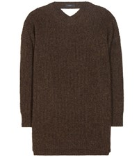 Ellery Napoleon Wool Sweater Brown