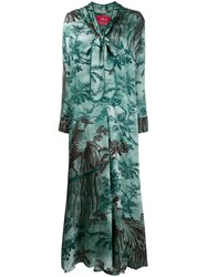F.R.S For Restless Sleepers Palm Tree Day Dress Green