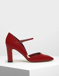 Charles And Keith D'orsay Mary Jane Heels Red