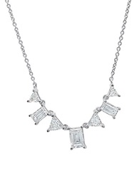 Crislu Carrie Cubic Zirconia And Platinum Necklace Silver