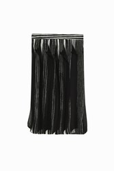Missoni Ruffle Pleated Skirt Black