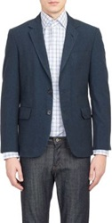 Brooklyn Tailors Flecked Two Button Sportcoat Blue