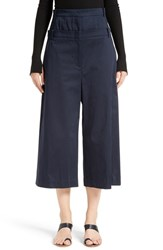 Tibi Women's Mila Satin Double Waist Crop Pants