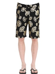 Moschino Underwear Dumbbell Printed Cotton Jogging Shorts
