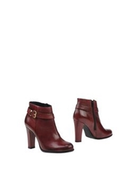 Evado Ankle Boots Maroon