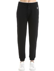 Kenzo Tiger Patch Cotton Sweatpants Black