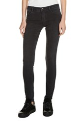 Maje Women's Low Rise Skinny Jeans Anthracite