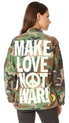Madeworn Rock Make Love Not War Jacket Camo