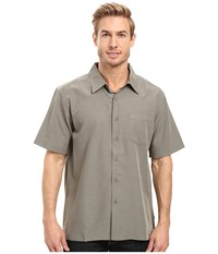Quiksilver Centinela 4 Traditional Polynosic Woven Top Shadow Men's Clothing Brown