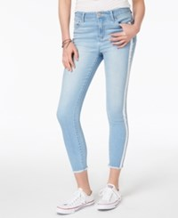 Tinseltown Juniors' Striped Skinny Jeans Light Authentic Wash
