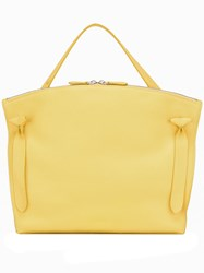 Jil Sander Square Single Handle Tote Yellow Orange