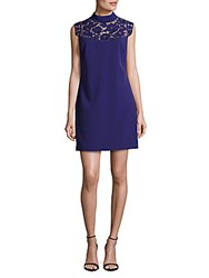 Karen Millen Lace Cutwork Dress Purple